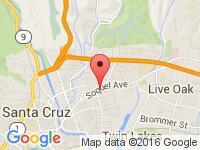 Map of Auto One at 1236 Soquel Avenue, Santa Cruz, CA 95062