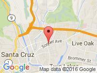 Map of Auto One at 1236 Soquel Avenue, Santa Cruz, CA 95062