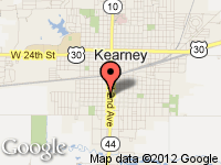 Map of Kearney at 1422 Second Ave., Kearney, NE 68847
