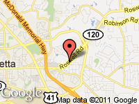 Map of Marietta Sportscar & Cycle Co. at 1616 Roswell Rd., Marietta, GA 30062