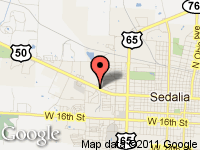 Map of JERRY BAKER AUTO SALES LLC at 600 Industrial Drive, Sedalia, MO 65301