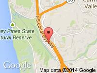 Map of Del  Mar Motor Cars at 3444 Tripp Court, Suite A, San Diego, CA 92121