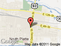 Map of Jody's Auto Sales, Inc. at 4 South Jeffers, North Platte, NE 69101