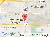 Map of Planet Motors at 225 N Military Trail, West Palm Beach, FL 33415