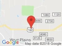 Map of Rhine Auto Sales Inc at 3208 US Hwy 160, West Plains, MO 65775