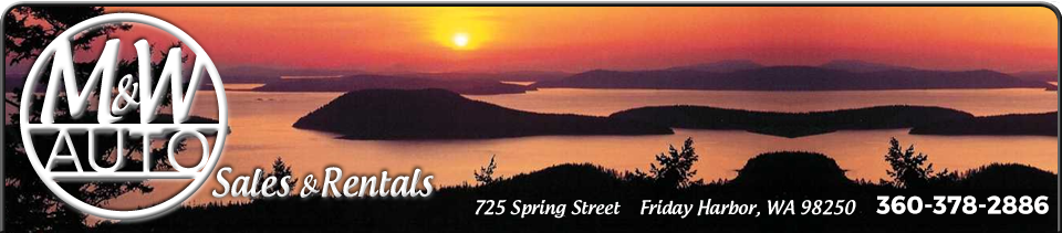 Auto Rentals | Auto Sales in Friday Harbor | Orcas, WA| M&W Auto