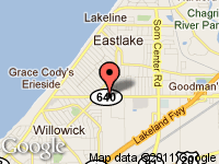 Map of TRANSPORTATION OUTLET INC. at 33056 VINE ST., Eastlake, OH 44095