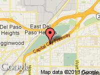 Map of Primetime Autos at 2540 Auburn Blvd., Sacramento, CA 95821