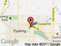 Map of Sovereign Auto Group LLC at 730 E. Main St., Flushing, MI 48433