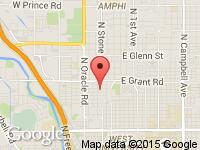 Map of Len's Auto Brokerage at 2101 N. Stone Ave., Tucson, AZ 85705