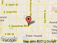 Map of A.P'S Auto Sales at 3747 E. Speedway Blvd., Tucson, AZ 85716