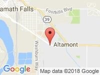 Map of Courtesy Auto & RV Center at 3350 South 6th Street, Klamath Falls, OR 97603