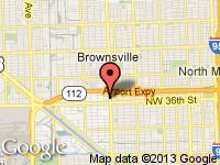 Map of CONCEPT AUTO inc. at 3700 NW 27th Ave., Miami, FL 33142