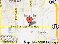 Map of A-1 AUTO SALES - BAKERSFIELD. CA at 6628 Rosedale Hwy, Bakersfield, CA 93308