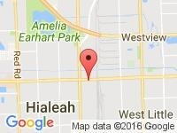 Map of The Car Shack at 950 East 49 St., Hialeah, FL 33013