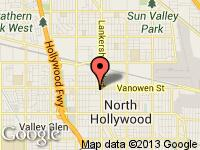 Map of HOLLYWOOD AUTO CENTER INC at 6733 Lankershim Blvd, North Hollywood, CA 91606