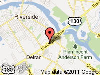 Map of New Jersey Auto Sales at 8004 ROUTE 130 NORTH, Delran, NJ 08075