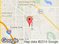 Map of Northern Auto Brokers at 7055 E. Evans Ave, Denver, CO 80224