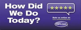 Logo: cars.com; How did we do today?