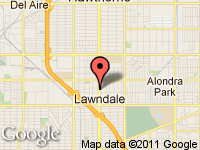 Map of Vio's Auto Sales, Inc. at 15301 Hawthorne blvd., Lawndale, CA 90260