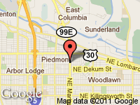 Map of MLK Auto Sales LLC at 7062 N.E. MLK, Portland, OR 97211