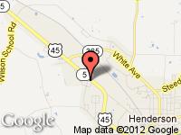 Map of Teague-Noles 45 Automart at 911 U.S. HWY 45N, Henderson, TN 38340