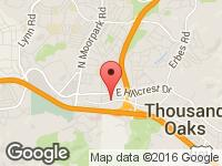 Map of Conejo Wholesale Auto & RV at 661 E Thousand Oaks Blvd, Thousand Oaks, CA 91360