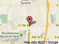 Map of Cars R Us at 7401 S. Tacoma Way, Tacoma, WA 98409