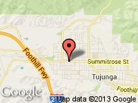 Map of KING'S CARS INC at 8220 Foothill Blvd #12, Sunland, CA 91040