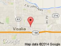 Map of Dollar Bill Auto Sales at 1234 E Center Ave, Visalia, CA 93292
