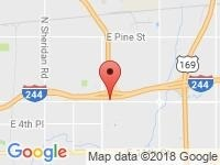 Map of Superior Auto Group Plaza at 8227  E. Admiral Pl, Tulsa, OK 74115