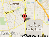 Map of Benfor Fine Autos at 7403 Airport Blvd, Houston, TX 77061