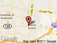 Map of Cincinnati Used Auto Sales LLC at 8260 Beechmont Ave, Cincinnati, OH 45255