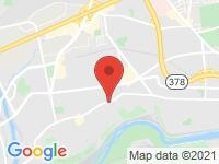 Map of Dell Motors at 2010 Union Blvd., Allentown, PA 18109