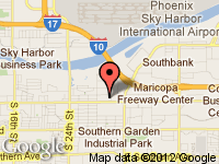 Map of Goldie's Motors at 2950-1 East Broadway Road, Phoenix, AZ 85040