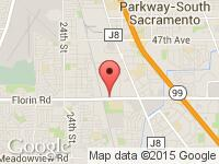 Map of Marshall Auto Sales at 3463 Florin Road , Sacramento CA 95823, Sacramento, CA 95823