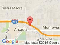 Map of Arcadia Motorcycle Company at 136 E. Saint Joseph St., Arcadia, CA 91006