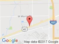 Map of W Washington St at 7550 West Washington Street, Indianapolis, IN 46231
