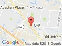 Map of Acadian SuperCenter at 12020 Airline Highway, Baton Rouge, LA 70817