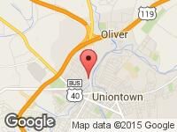 Map of M1 Auto at 125 Pittsburgh St., Uniontown, PA 15401