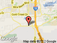 Map of Xclusive Motors at 9444 Miramar Road, San Diego, CA 92126
