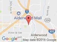 Map of European Motors Corp at 16017 Aurora Ave N, Seattle / Shoreline, WA 98133