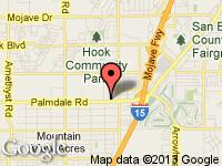 Map of Platinum Auto Group at 15180 Palmdale Rd., Victorville, CA 92392