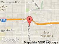 Map of Colorado Blvd. Lot at 2748 E. Colorado Blvd., Pasadena, CA 91107