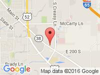 Map of Del Real Auto Sales at 3816 State Road 38 East, Lafayette, IN 47905