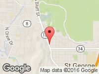 Map of Second Chance Auto at 222 N Bluff St., St. George, UT 84770