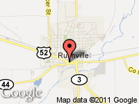 Map of Campbell Brothers Auto Sales Inc. at 325 W. 2nd St., Rushville, IN 46173