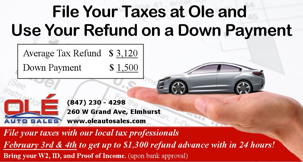Need Your Tax Refund Asap To A Car