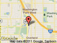 Map of Auto Source LLC at 1438 S. Cherokee St., Denver, CO 80223
