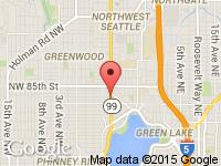 Map of Seattle Motors at 8101 Aurora Ave. N., Seattle, WA 98103